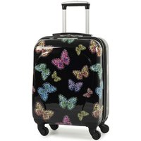 Rock Members Miro-Printed Hardshell Spinner Cabin Case - Black
