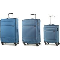 Rock Deluxe-Lite 3-Piece 8-Wheel Spinner Suitcase Set - Teal
