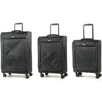 Rock Astro II 3-Piece Suitcase Set - Black