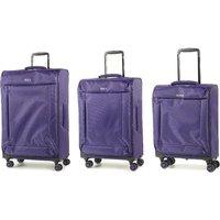 Rock Astro II 3-Piece Suitcase Set - Purple