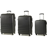 Rock Byron 3-Piece Hard Shell Spinner Suitcase Set - Black