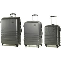 Rock Byron 3-Piece Hard Shell Spinner Suitcase Set - Grey