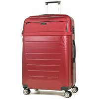 Rock Hybrid Large 8-Wheel Hard and Soft Shell Suitcase - Red