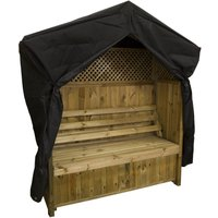 Zest4Leisure Hampshire Wooden Arbour with Storage Box and Cover