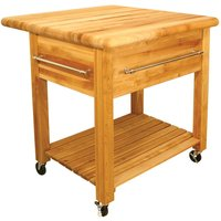 Catskill by Eddingtons Grand Kitchen Trolley on Wheels with Drop Leaf Extension