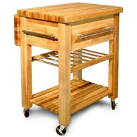 Catskill by Eddingtons Grand Kitchen Trolley with Wine Rack and Drop Leaf Extension