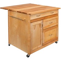 Catskill by Eddingtons Deep Drawer Kitchen Trolley on Wheels with Drop Leaf Extension