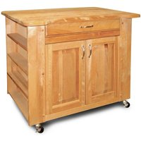 Catskill by Eddingtons Deep Storage Kitchen Trolley on Wheels with Contoured Top