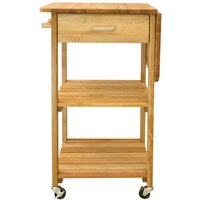 Catskill by Eddingtons 2-Shelf Kitchen Trolley with Drop Leaf Extension