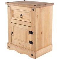 Halea 1-Door 1-Drawer Bedside Cabinet