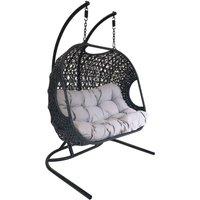 Charles Bentley Double Rattan Swing Chair