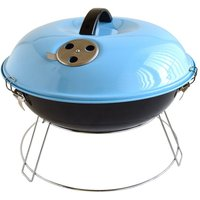 Bar-Be-Quick Portable Picnic Charcoal BBQ - Blue
