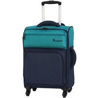 IT Luggage Duo-tone Small Super Light Cabin Suitcase - Blue