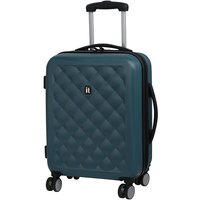 IT Luggage Fashionista Cabin Suitcase with Quilted Emboss - Blue