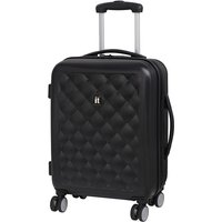 IT Luggage Fashionista Cabin Suitcase with Quilted Emboss - Black