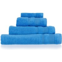 Allure Zero Twist Cotton Bath Sheet - Blue
