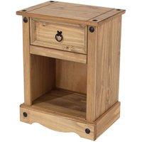 Halea 1-Drawer Bedside Cabinet - Dark Pine