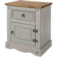 Halea 1-Drawer, 1-Door Bedside Cabinet - Grey