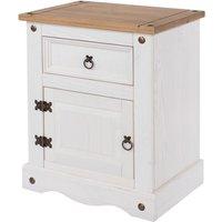Halea 1-Drawer, 1-Door Bedside Cabinet - White
