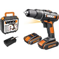 Worx 20V Lithium-ion Impact Drill with Spare Battery and Case