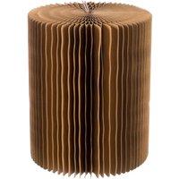 Paper Lounge 38cm Stool - Dark Brown