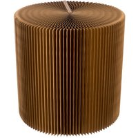 Paper Lounge 50cm Tall Concertina Table - Dark Brown