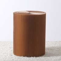 Paper Lounge 70cm Tall Concertina Table - Brown