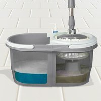 Dual Spin Mop with Bucket Set - Grey