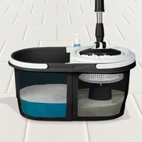 Dual Spin Mop with Bucket Set - Black