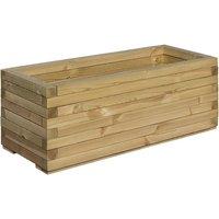 Rowlinson Rectangular Wooden Planter