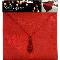 Essential Housewares Glitter Table Runner - Red