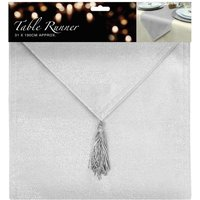 Essential Housewares Glitter Table Runner - Silver