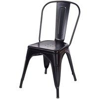 Roloku Pair of Metal Chairs - Black