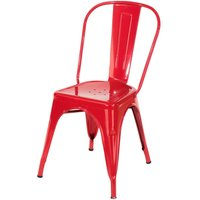 Roloku Pair of Metal Chairs - Red
