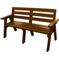 NBB Recycled Furniture NBB Recycled Captains Treble Bench Seat - Brown