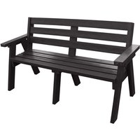 NBB Recycled Furniture NBB Recycled Captain Treble Bench Seat - Black