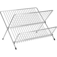 Premier Housewares Folding Dish Drainer - Chrome