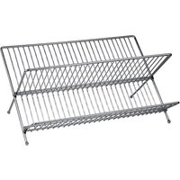 Premier Housewares Large Folding Dish Drainer - Chrome