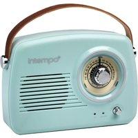 Intempo Bluetooth Speaker Radio - Duck Egg Blue