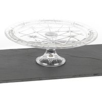 RCR 33cm Stella Crystal Decorative Footed Centerpiece Cake Stand