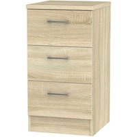 Yelanto 3-Drawer Bedside Cabinet - Oak