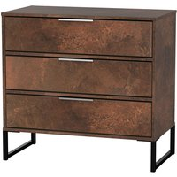 Kishara 3-Drawer Sideboard - Copper