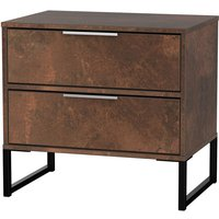 Kishara 2-Drawer Bedside Cabinet - Copper