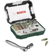 Bosch 26pc Screwdriver Bit and Mini Ratchet Set
