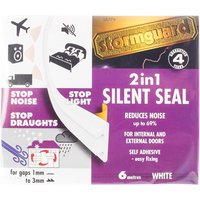 Stormguard 6m Silent Seal Draught Excluder Foam - White
