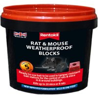 Rentokil Rat & Mouse Weatherproof Block x5