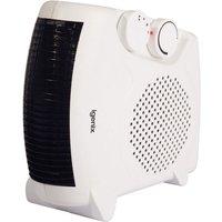 Igenix 2kW Upright and Flat Fan Heater with 2 Heat Settings