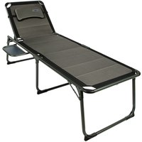 Quest Ragley Elite Sun Lounger with Side Table - Silver/Black