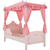 Premier Housewares Kids Princess 4 Poster Bed - Pink
