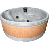 RotoSpa QuatroSpa Hot Tub - Light Grey / Teak